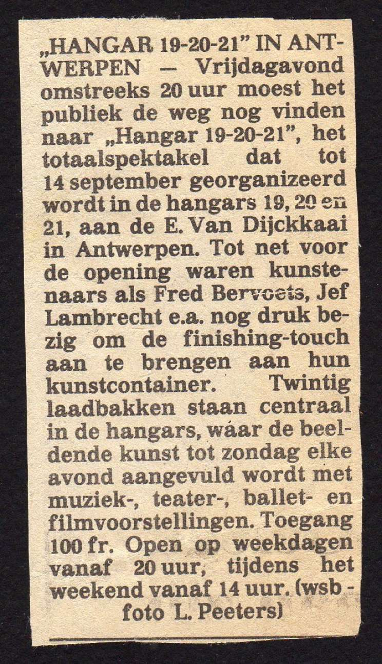 """""""Hangar"""" Containerart in Antwerp article image"""