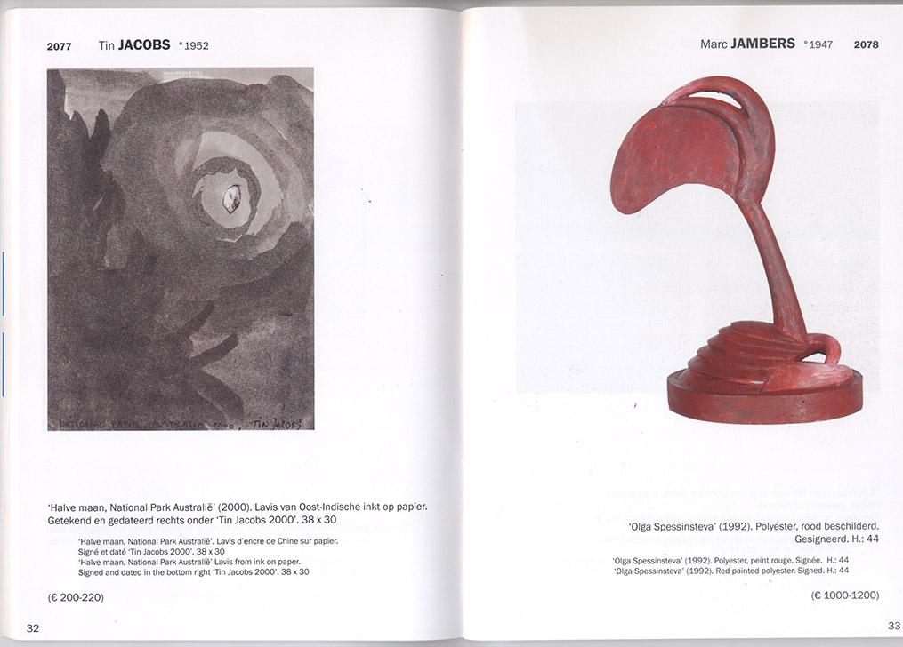 Catalogue, Benefiet Ademloos, veiling van Hedendaagse kunst, veilinghuis Bernaerts images from catalogue