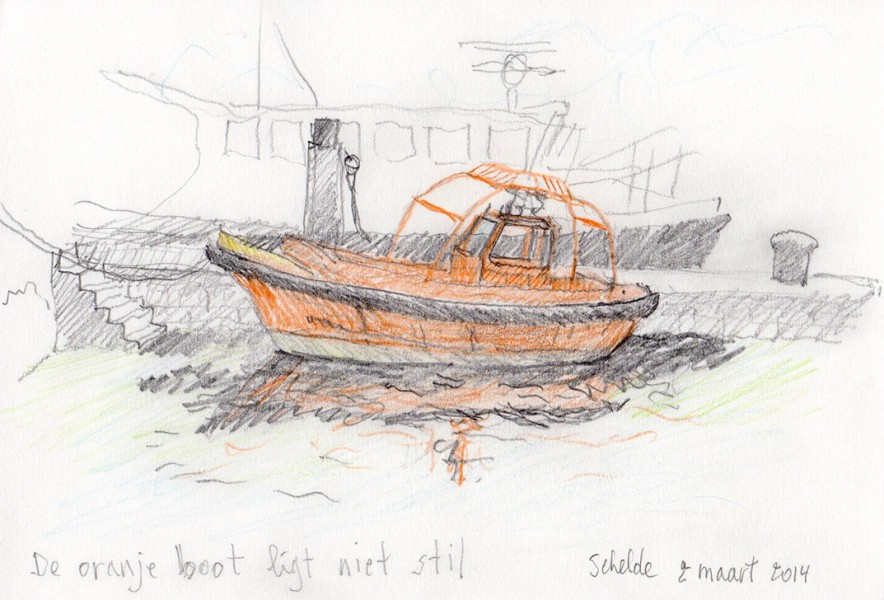 2014-The-orange-boat-Schelde-Antwerpen