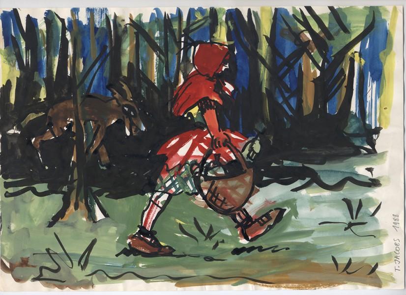 1988-roodkapje-aquarel